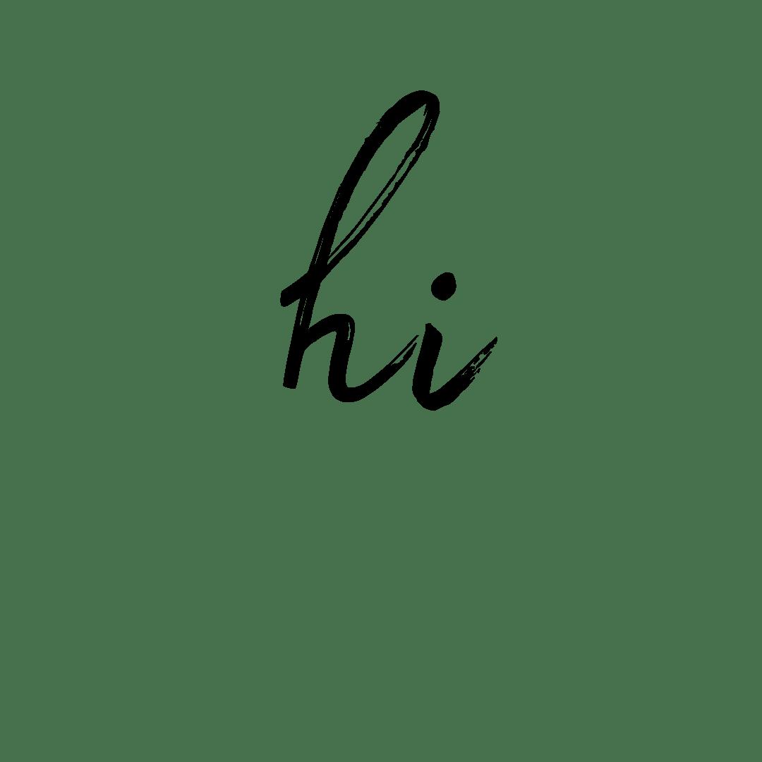 The words hi
